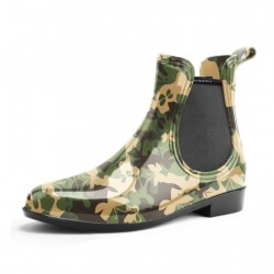 Side Gore Ankle Boots Camoflage