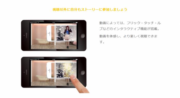 動画によっては、インタラクティブな操作が可能です。
