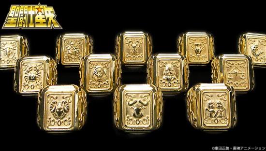 聖闘士星矢 黄金聖衣箱デザインsilver925リング 12種