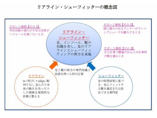 リアライン・シューフィッターの概念図