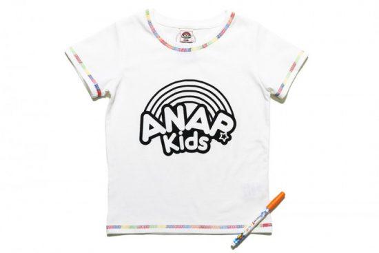 サクラクレパス 塗り絵ペン付きTシャツ ロゴ柄