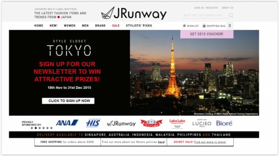 ECサイト「JRunway.com」