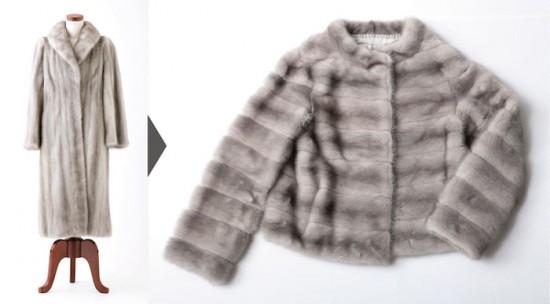 着る機会のない母の毛皮のコートをリメイク