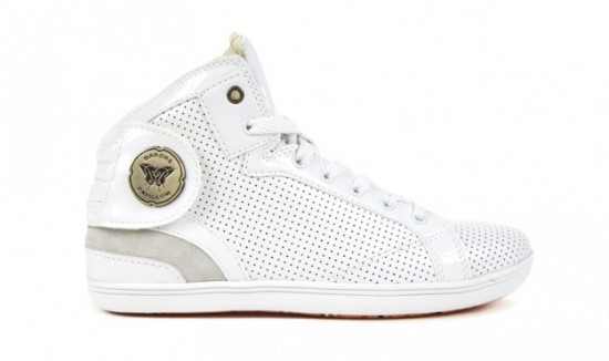Barons Cuir Perfore Blanc