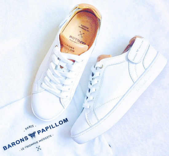 Barons Low Cuir Blanc