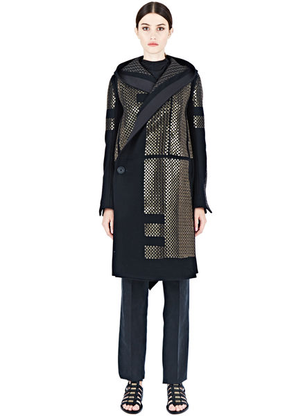Rick Owens Sphinx Sequin Coat